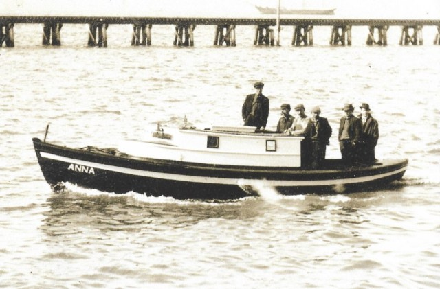 Alderbrook History boat from cannery Bill Moberg