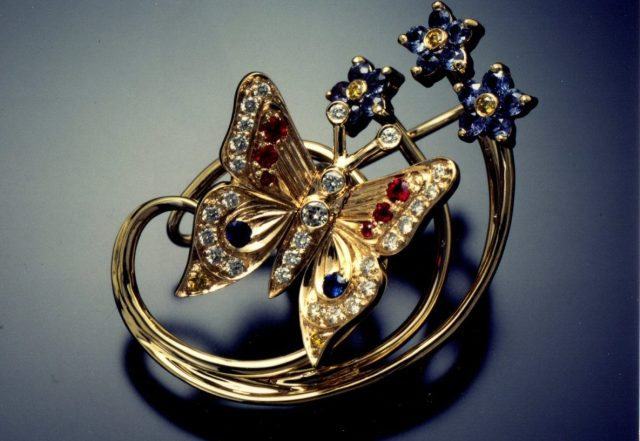GB Jewelers Forget-Me-Not-Butterfly