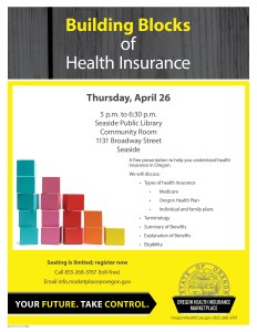 Building Blocks of Health Insurance @ Seaside Public Library | Seaside | Oregon | United States