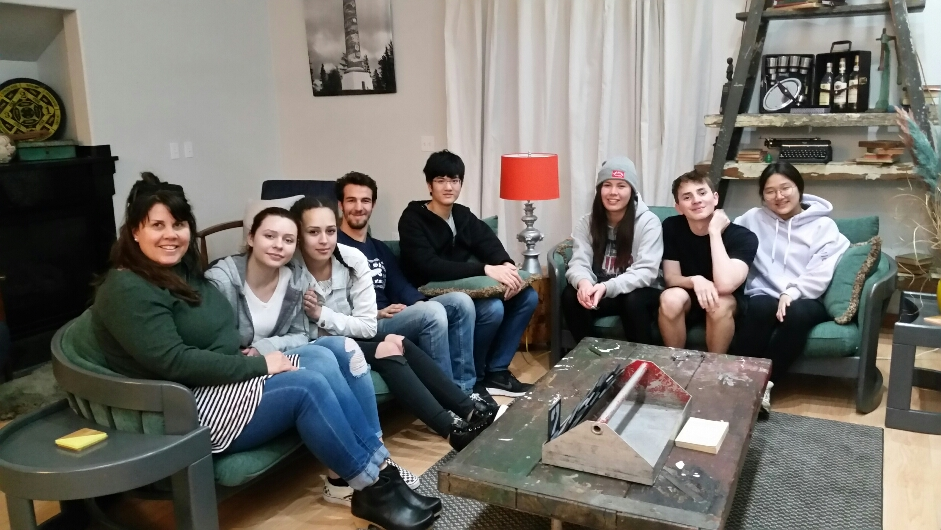 Theresea Petersen Exchange Students and 7 students