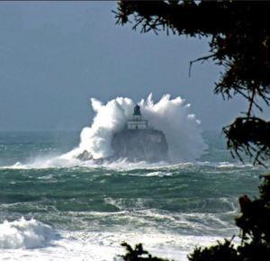 Massive Wave on Tillamook Rock