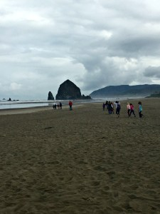 Haystack Rock's intertidal zone