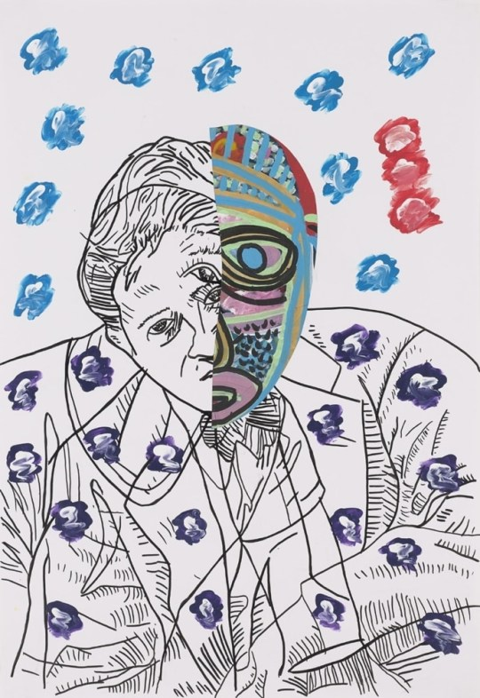 L'oeil Bleu - Peinture de Claude Tironneau