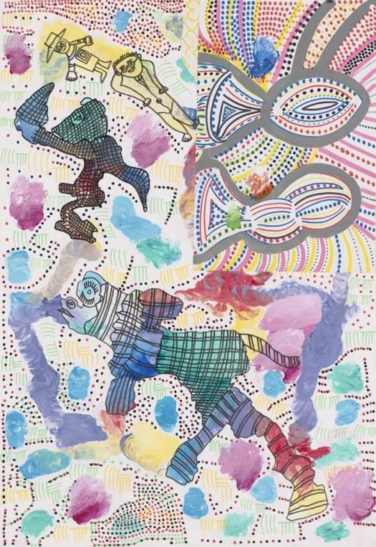 Poisson rayonnant - Peinture de Claude Tironneau