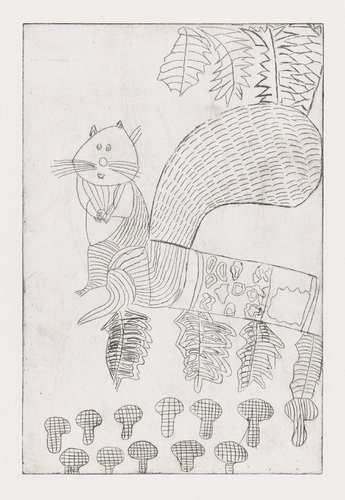 Ecureuil - Gravure de Claude Tironneau