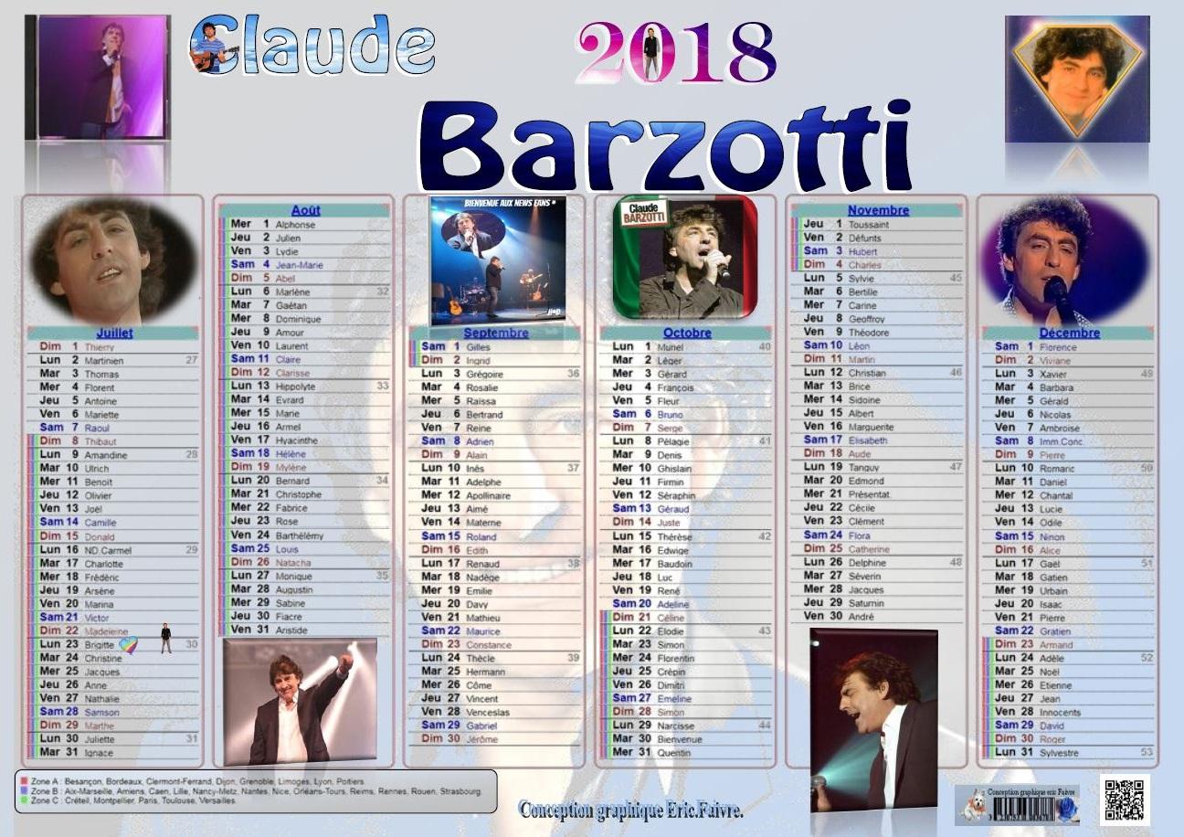 Discographie Claude Barzotti
