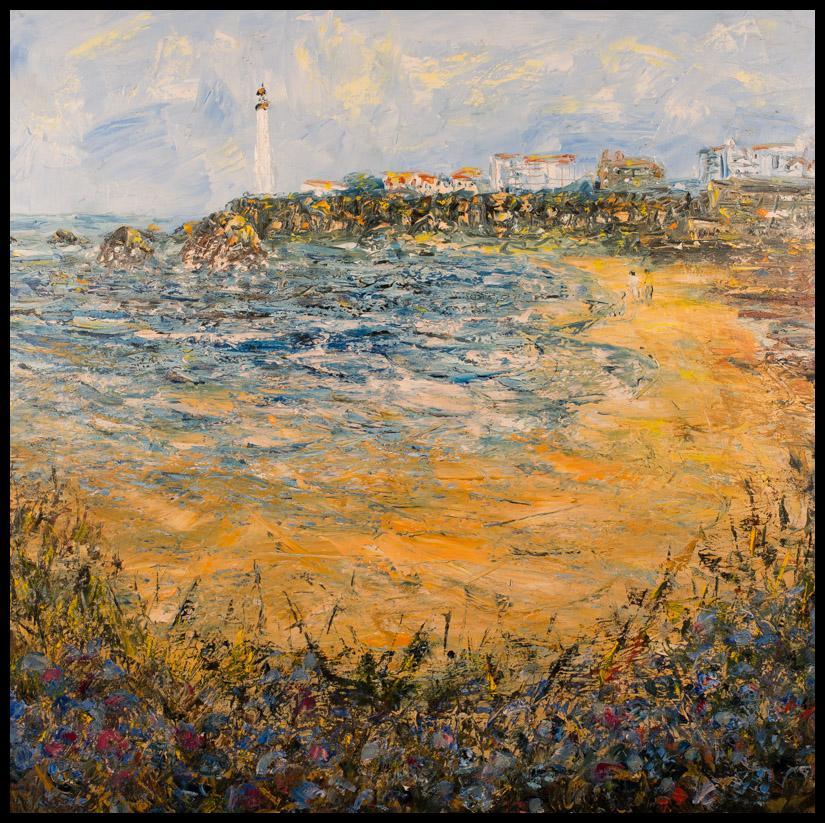 Biarritz - Huile sur toile 80x80