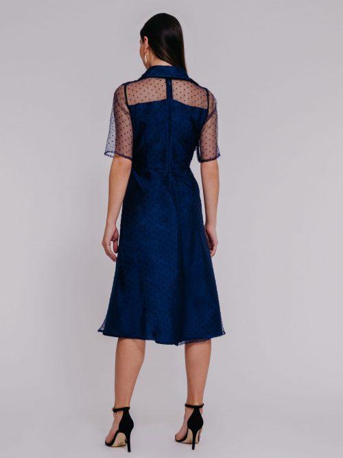 """robe mi-longue """"en organza manches 3/4""""robe"""""""