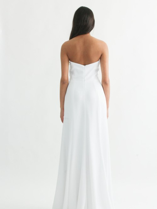 Yulianna strapless gown