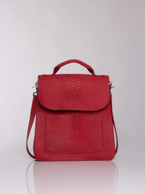 """Red leather cross bag"" ""cross bag"""