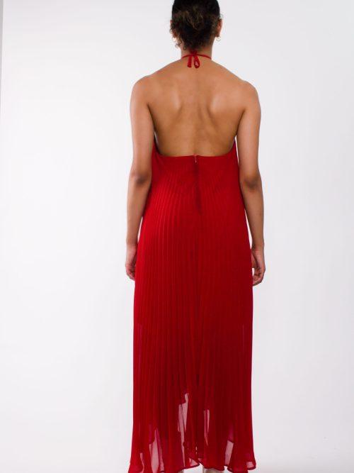 """Loose pleated chiffon maxi dress"""