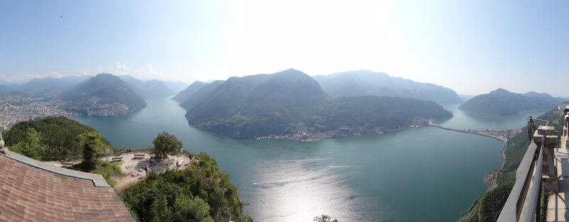 Monte San Salvatore - Blick auf Lugano