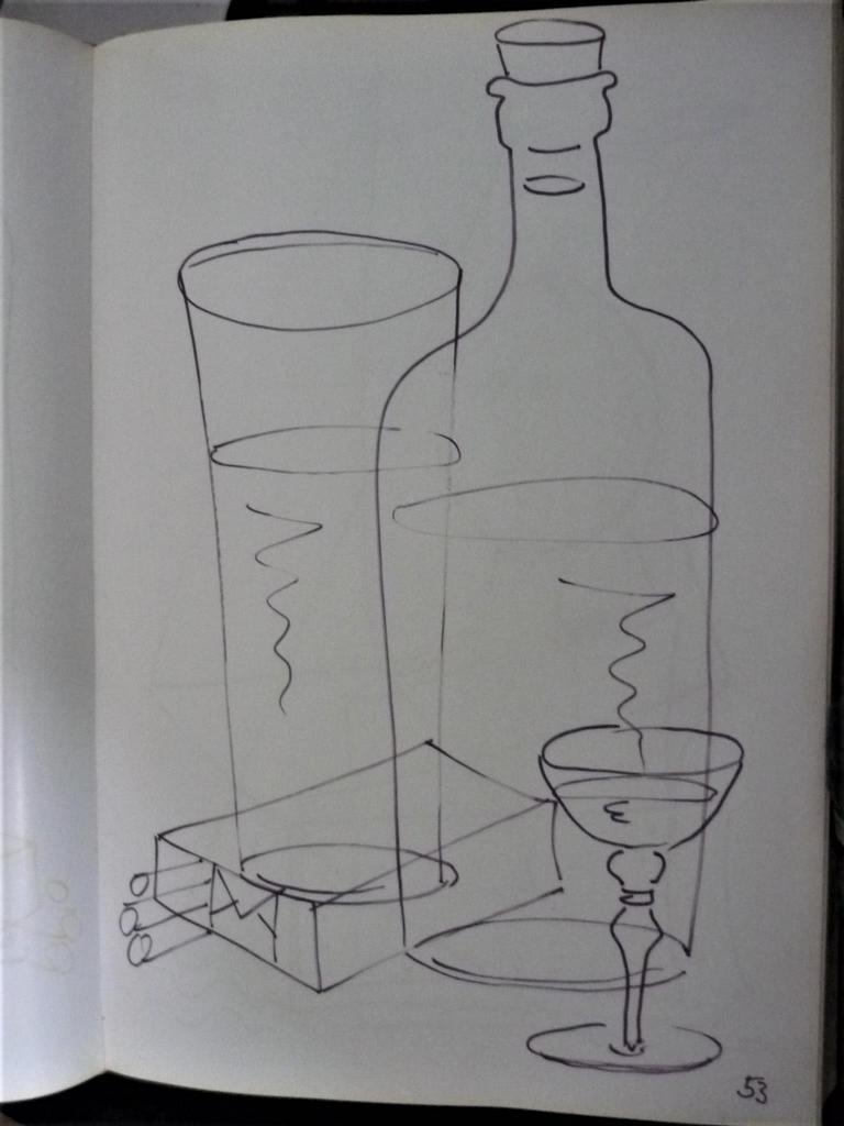3 von 12: Horst-Dieter Keitel ist kurz vor der Mittagspause, die in Wasser, Glas und etwas Hochprozentiges aufs Papier bringen lassen.
