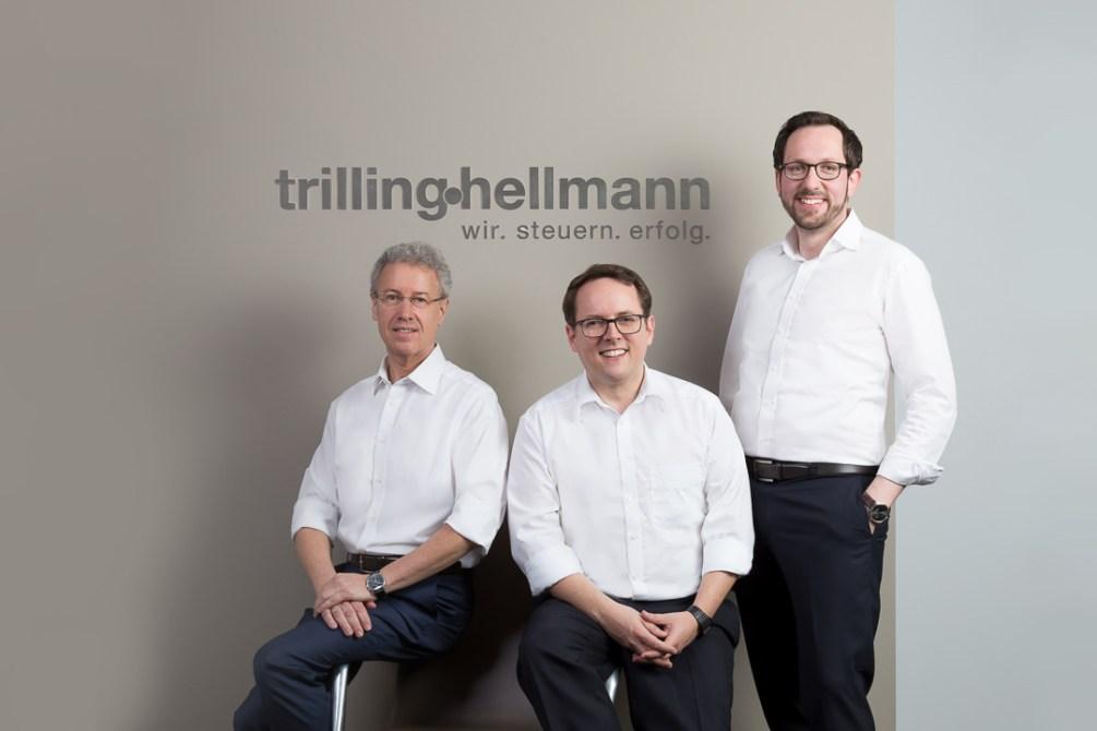 Teamfoto Geschäftsführung Kanzlei Trilling Hellmann und Partner