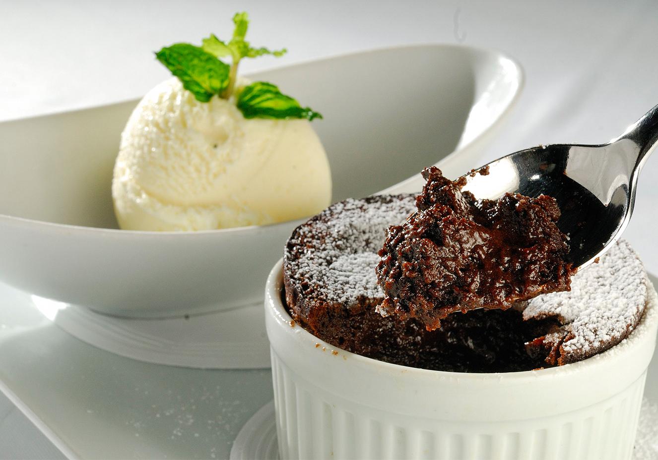 Suflê de chocolate Peru