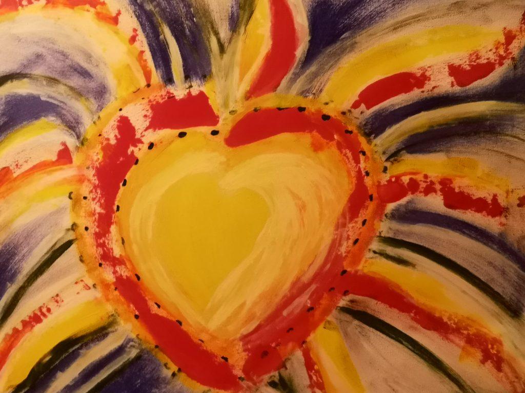 Heart Of Memory Acrylic On Canvas Herz Malen Wasserfarben
