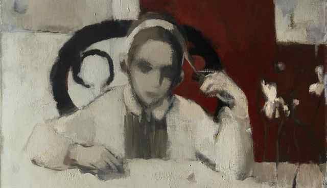 Adolfo Couve; imágenes inéditas. Detalle Melliza, 1964. Óleo sobre tela. Foto Patricia Novoa