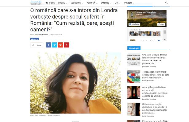 Claudia despre Viata la Londra comparatie