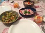 guacamole, ceviche, caipirinha de caju