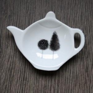repose sachet de thé porcelaine fait main