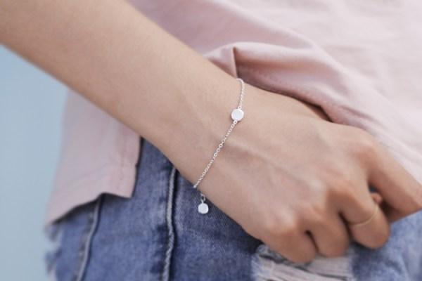 bracelet fin argent