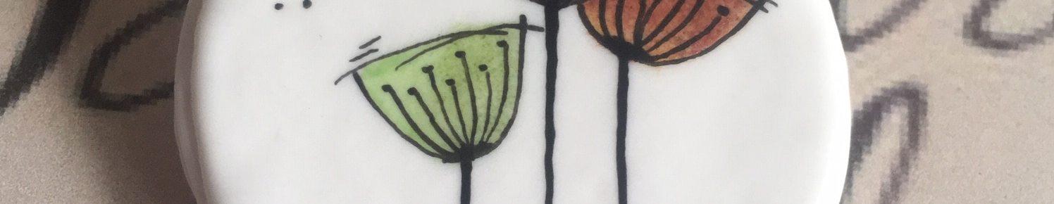 Broche 3 fleurs