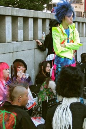 «Cosplay» à la station Harajuku (Tokyo)