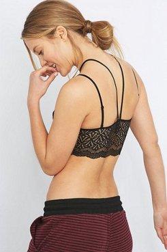 V-Front Black Lace Bralette £19