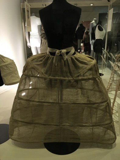 This hooped petticoat was fashionable in France