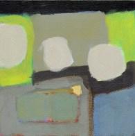 """Small landscape, Day 14. 6"""" x 6"""" on Masonite."""