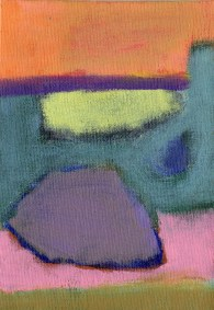 """Small landscape Day 18. 7"""" x 5"""" on canvas board."""