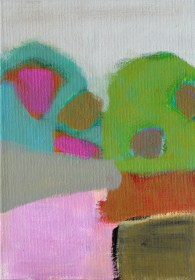 """Small landscape, Day 9. 7"""" x 5"""" on canvas board."""