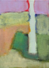 """Small landscape, Day 5. 7"""" x 5"""" on canvas board."""