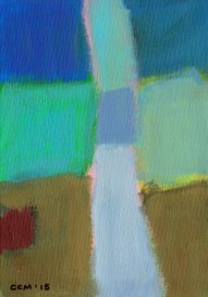 """Small landscape, Day 41 - 7"""" x 5"""" on canvas board."""