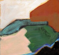 """Small landscape, Day 52 - 6"""" x 6"""" on Masonite."""