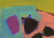 """Small landscape, Day 55 - 5"""" x 7"""" on canvas board."""