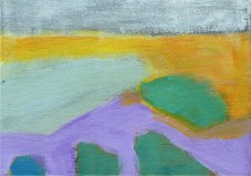"""Small landscape, Day 89 - 5"""" x 7"""" on canvas board."""