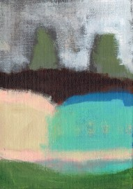 """Small landscape, Day 61 - 7"""" x 5"""" on canvas board"""