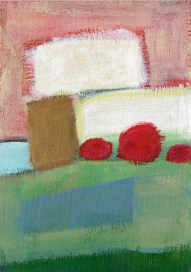 """Small landscape, Day 42 - 7"""" x 5"""" on canvas board."""