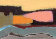 """Small landscape, Day 32. 5"""" x 7"""" on canvas board."""