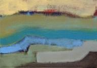 """Small landscape, Day 51 - 5"""" x 7"""" on canvas board."""