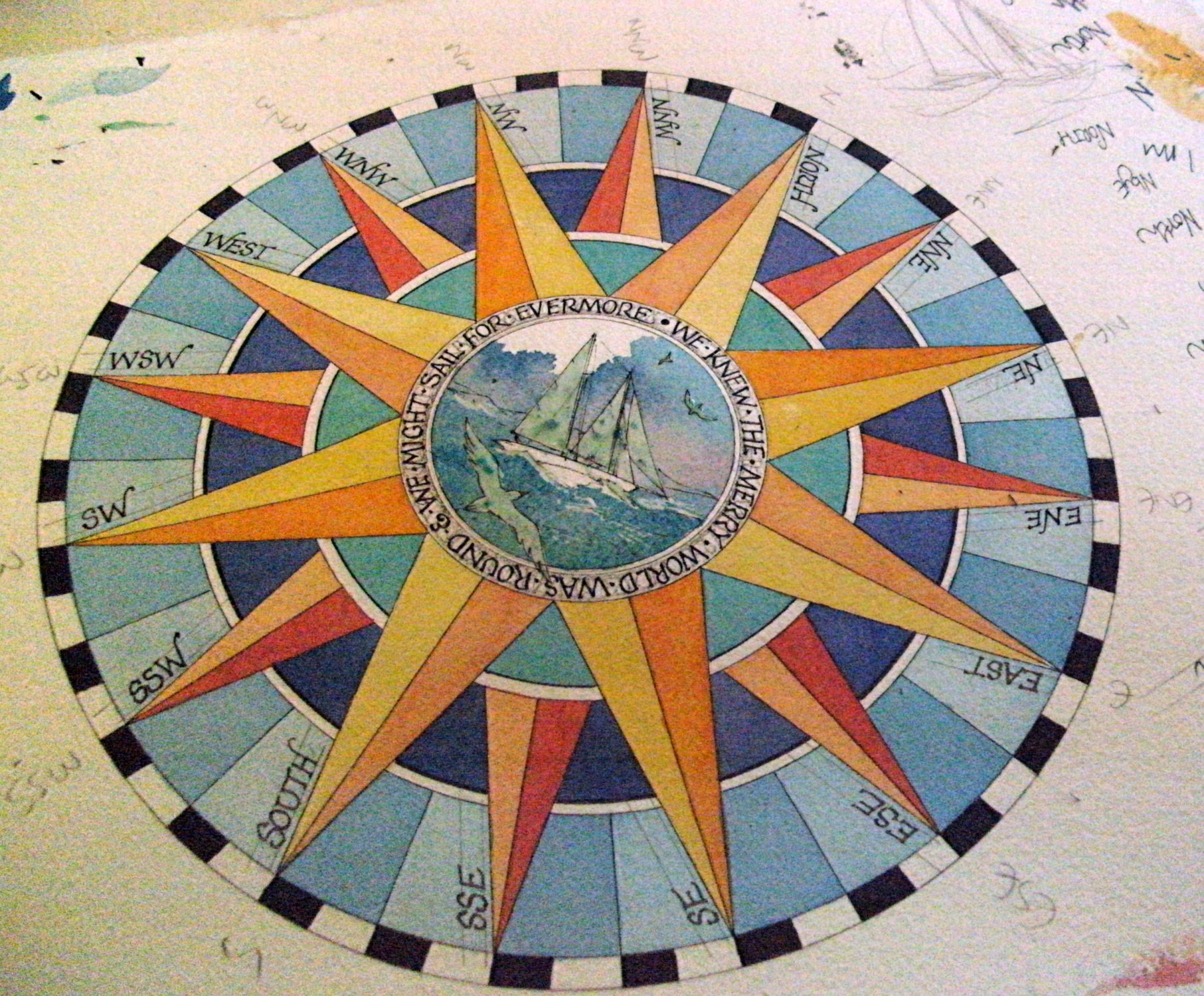 On The Drawing Board Growing A Compass Rose Claudia Myatt