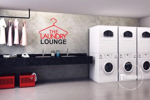 Constantino Campo Belo - Perspectiva artística da lavanderia - Serviço de moradia