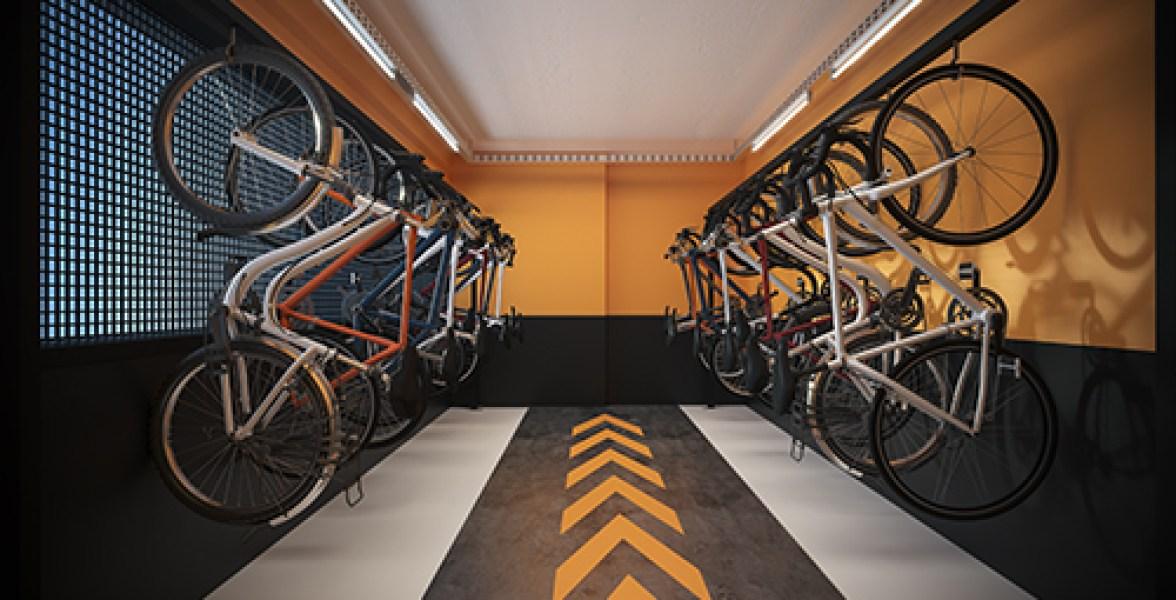 Bicicletário do Raízes Vila Prudente