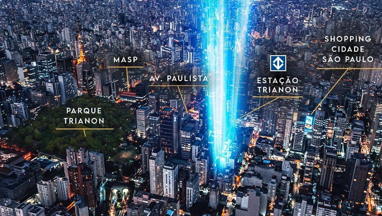 Localização do Pamplona Studios Paulista