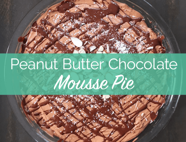 peanut butter mousse, peanut butter and chocolate recipes, pb2 recipe, dairy free recipe, low sugar recipe, healthy dessert recipe, summer desserts, decadent recipes, peanut butter dessert, healthy pie recipe
