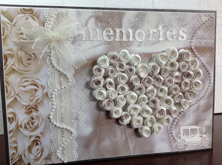 portada de libro de firmas para boda corazon con rosas