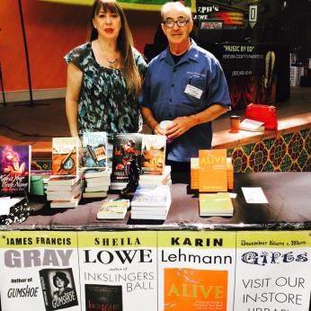 Sheila and James Gray at Pacific View Mall book fair