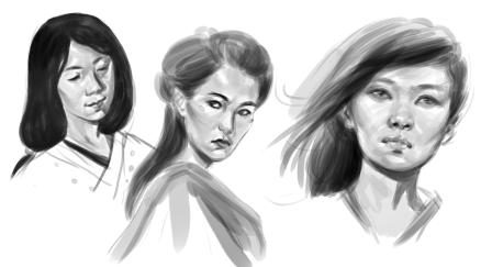 Japonese Ladies Sketches
