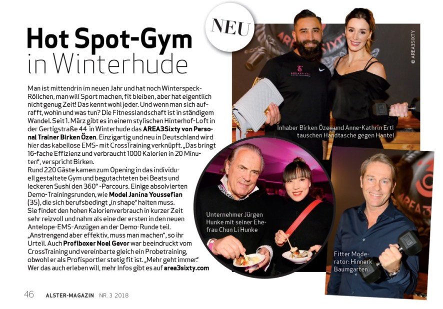 Alster MAGAZIn 9.2. opening area3sixty
